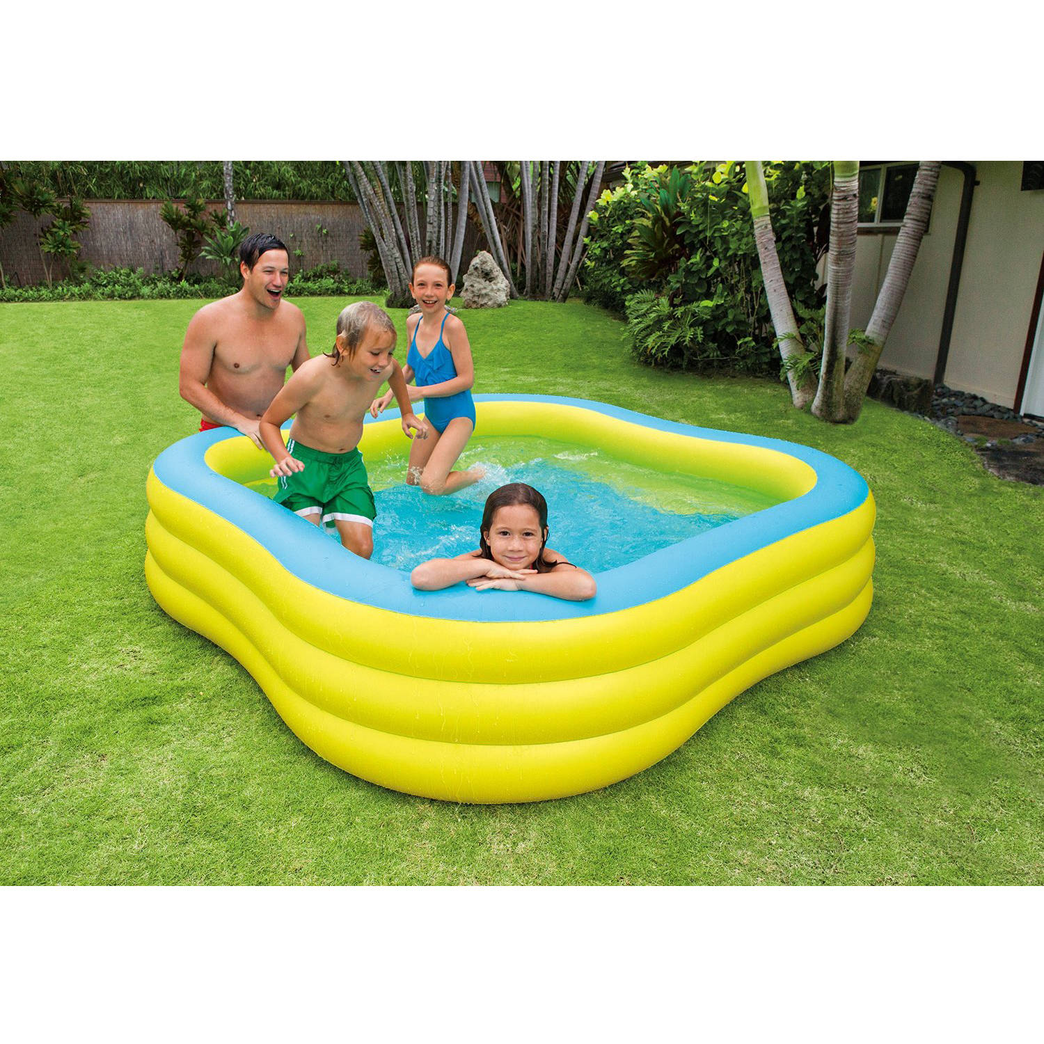 Intex Inflatable Beach Wave Swim Center Family Pool Walmart