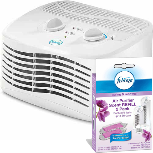 Febreze Tabletop Air Purifier with Spring & Renewal Scent Cartridge