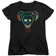 Suicide Squad Harley Skull Womens Short Sleeve Shirt