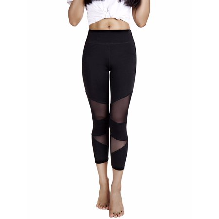 032233a18d FITTOO Activewear Yoga Pants Mesh Workout Leggings - For Women Active Gym  Fitness Stretchy Tight Tummy Control Non See-Through Fabric Running  Compression ...