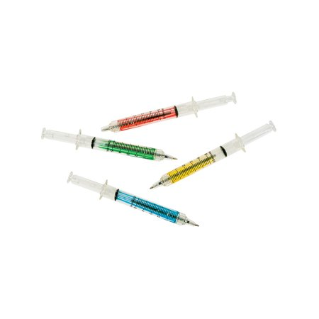 Syringe Ink Pens 12 Count Assorted Colors Costume Accessory](Syringe Pen)