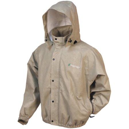 - Frogg Toggs Pro Action Rain Jacket Khaki (Tan, Small)