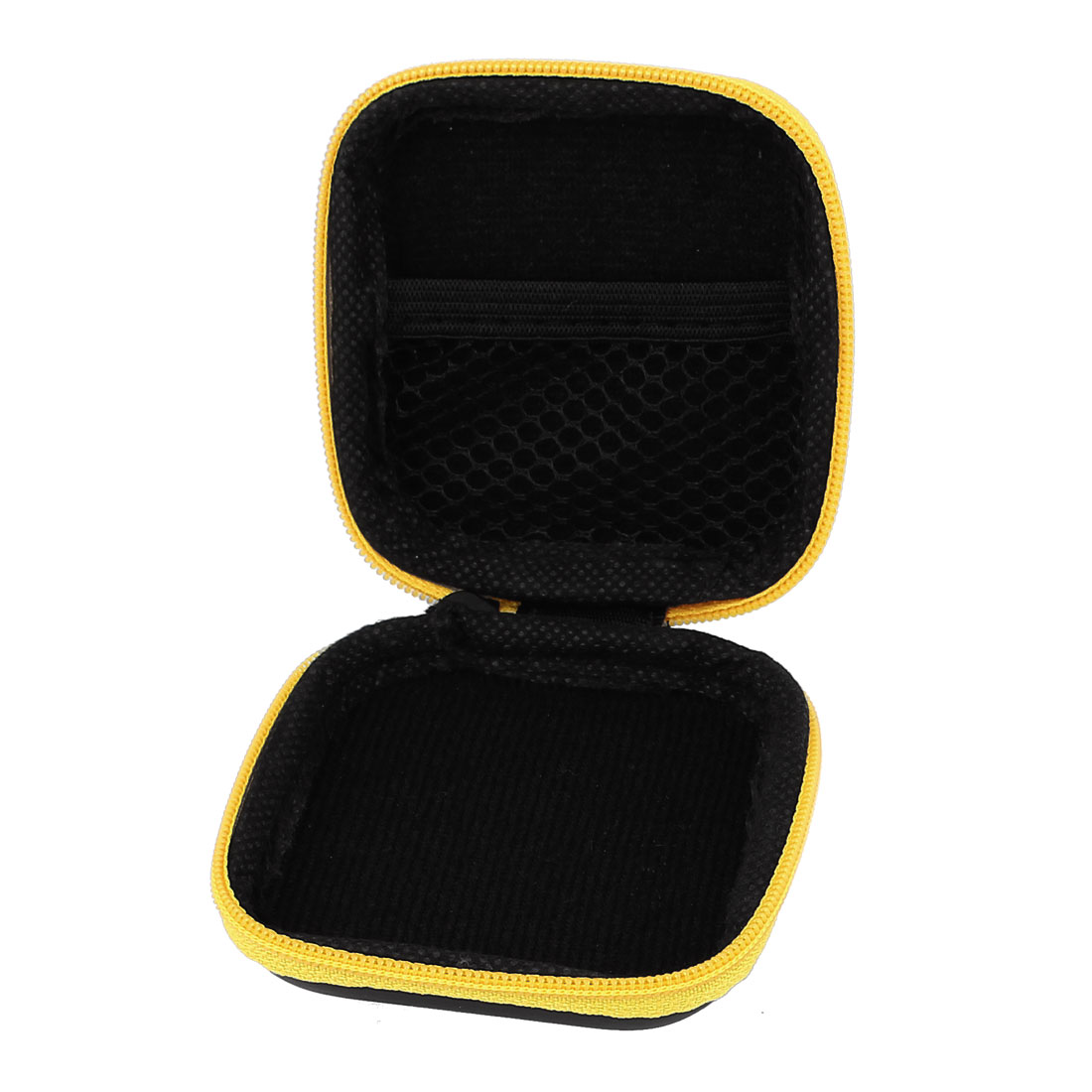Unique Bargains Earphone Cellphone Headphone Headset Carrying Case Pouch Storage Pocket Yellow