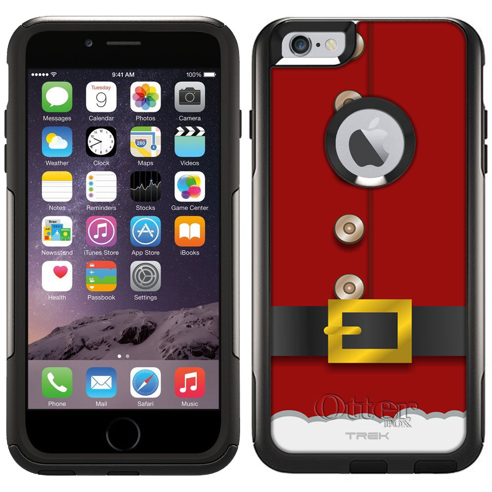 Otterbox Commuter Case for Apple iPhone 6 Plus - Red Santa Suit
