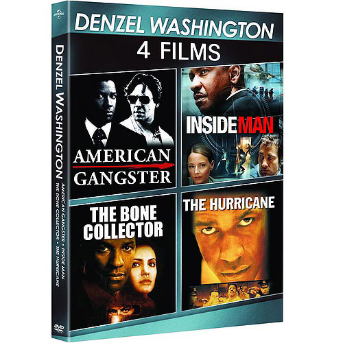Denzel Washington: 4-Film Spotlight Series American Gangster   The Bone Collector   The Hurricane   Inside Man... by Denzel Washington