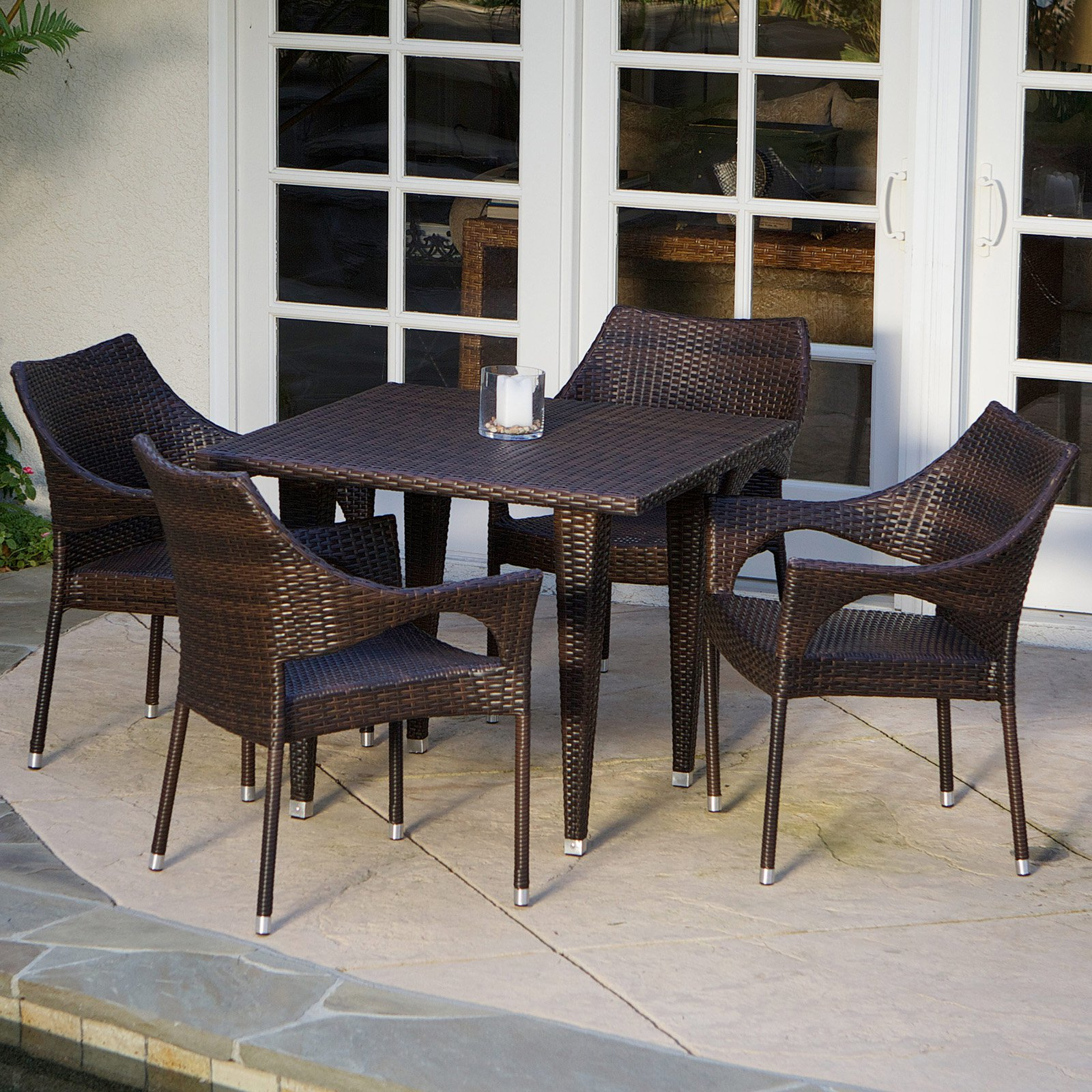 Cliff All-Weather Wicker Patio Dining Set - Seats 4