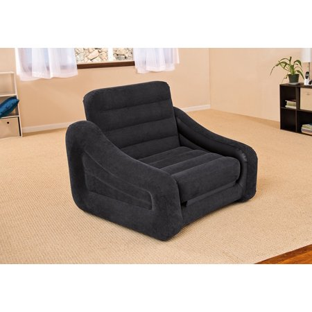 Inflatable Pull Out Chair And Twin Bed Mattress Sleeper