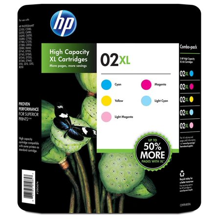 Hp 02Xl Color Club Combo Inkjet Cartridge