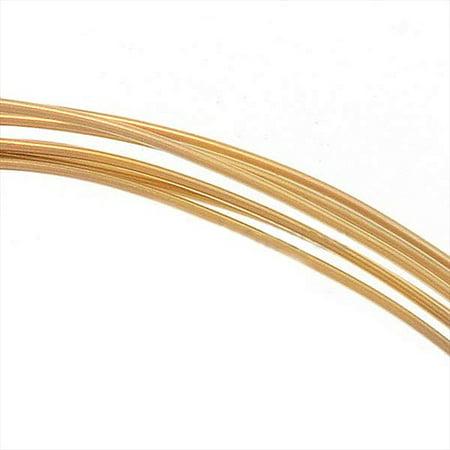 14K Gold Filled Wire 24 Gauge Round Half Hard (5 Feet)