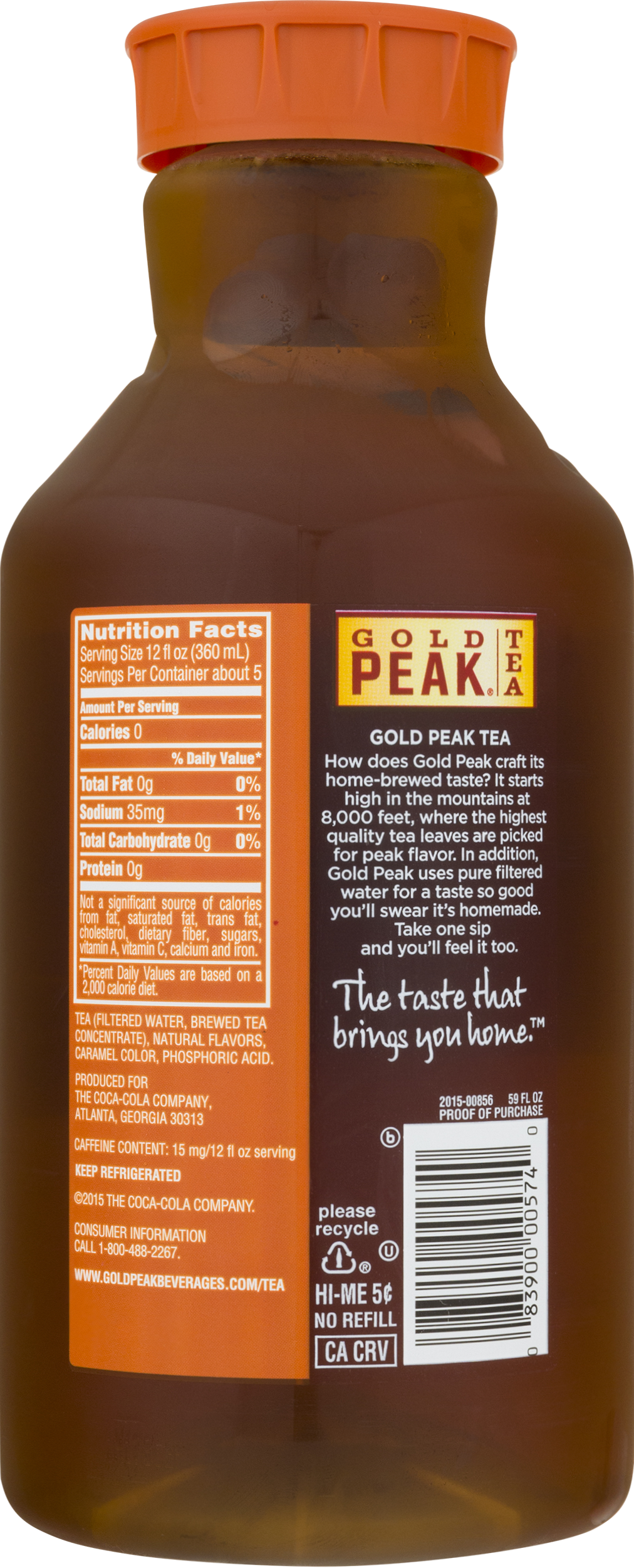 Gold Peak Unsweetened Iced Tea, 59 Fl