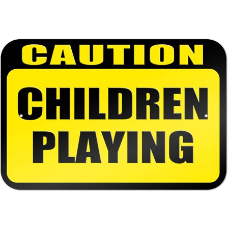 Caution Children Playing Sign Caution Children Playing Signs