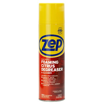 Zep 18 OZ Heavy Duty Foam Degreaser Cuts Through Grease; Dirt and Grime