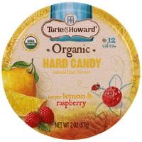 Torie & Howard, Organic, Hard Candy, Meyer Lemon & Raspberry, 2 oz (pack of 6)