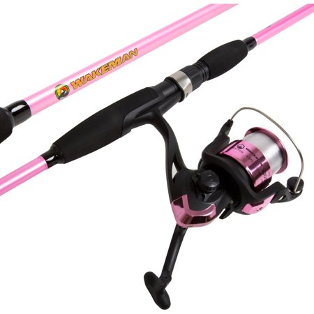 Wakeman strike series spinning rod and reel combo for Walmart fishing reels