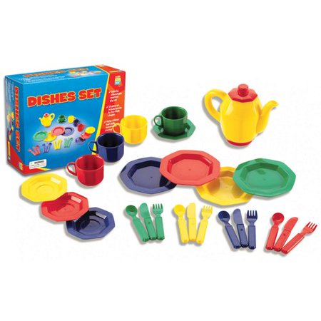 25 Piece Toy Dish Play Set