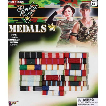 Costumes for all Occasions FM66226 Combat Hero Medals Bars