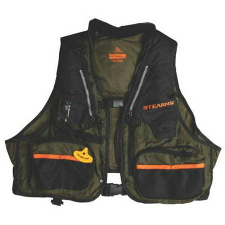 Stearns 33 gram manual fishing vest green nylon for Toddler fishing vest