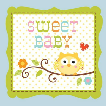 Party Creations Happi Tree Sweet Baby Boy Beverage Napkins, 16 - Do Boys Have Sweet 16