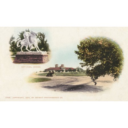 City Park Denver Colorado Usa Poster Print By Mary Evans  Grenville Collins Postcard Collection