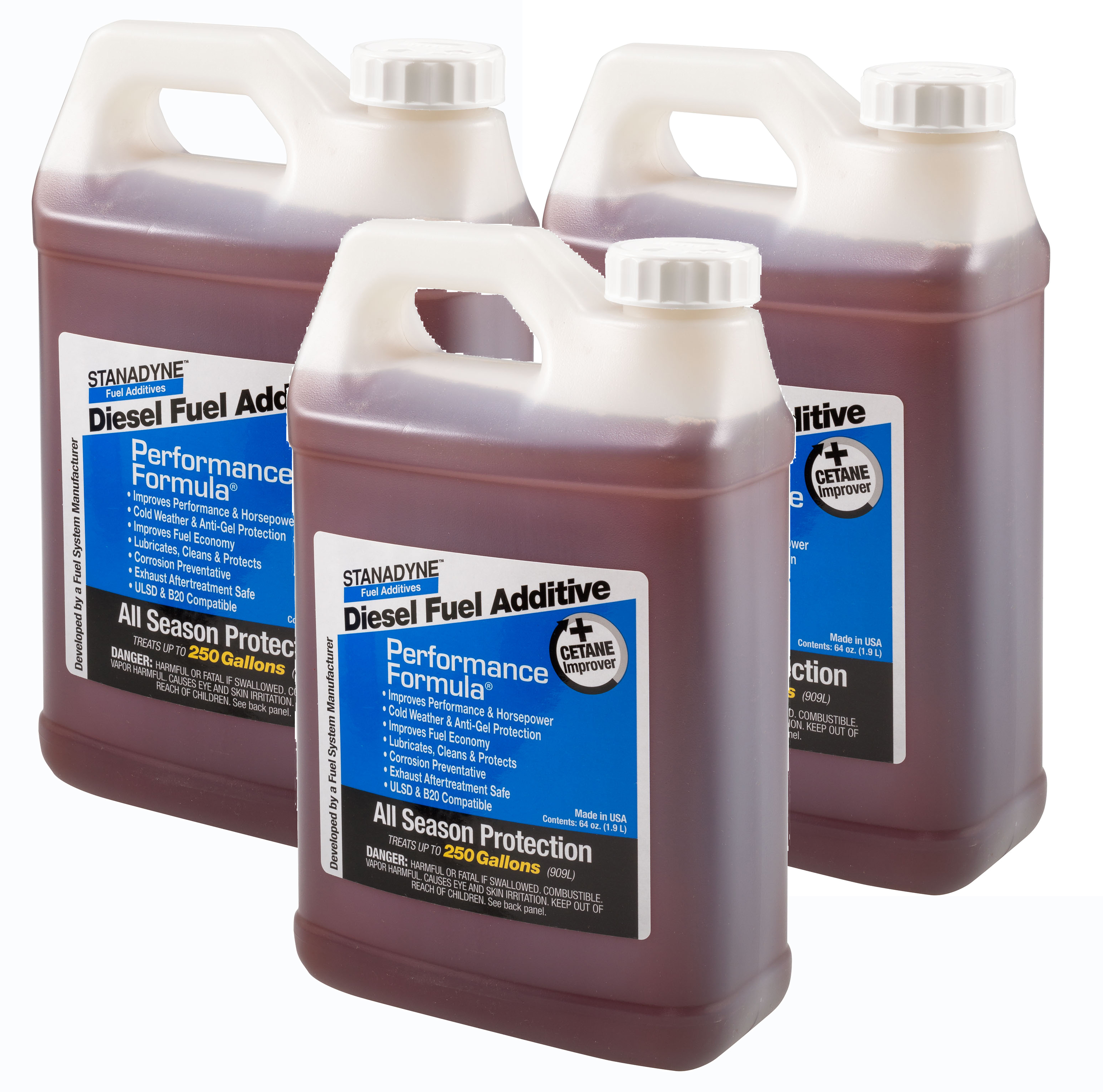 Stanadyne Performance Formula Diesel Fuel Additive  | 3 Pack of  1/2 Gallon Jugs | Stanadyne # 38566