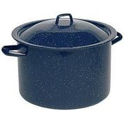 IMUSA USA 4 Quart Enamel Blue Stock Pot with White Speckles