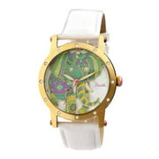 Betsy MOP Leather-Band Watch