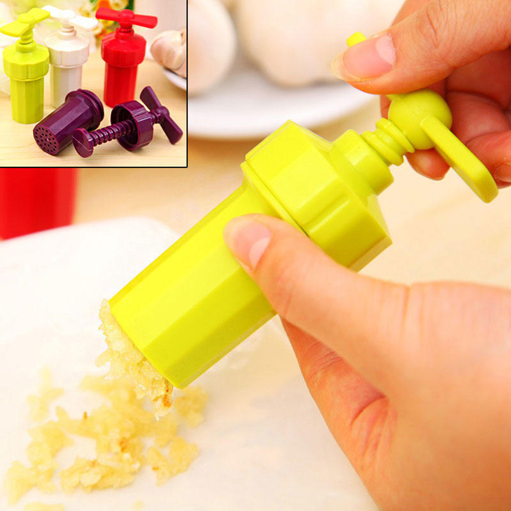Girl12Queen Ginger Garlic Manual Press Twist Cutter Crusher Plastic Peeler Kitchen Tools