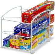 Kitchen Wrap Organizer Rack, White