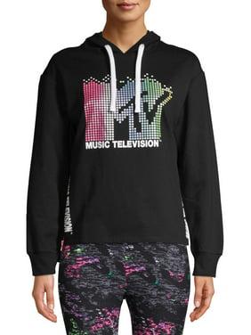 MTV Juniors' Side Zip Graphic Hoodie