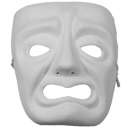 TRAGEDY MASK - Plain Arts and Crafts Masks - VENETIAN](Comedy Tragedy Mask)