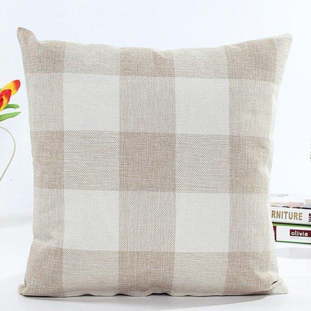 Square Lattice Pillow Case Cushion Cover Sofa Bed Home Decor Walmart Com Walmart Com