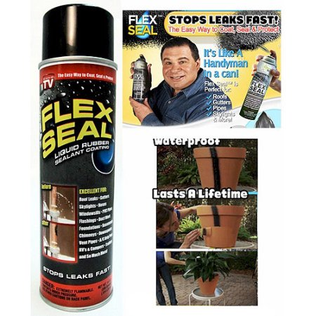 As Seen On Tv Flex Seal Liquid Rubber Sealant Black