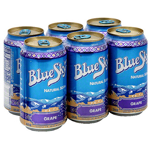 Blue Sky Natural Grape Soda, 6ct (Pack of 4)