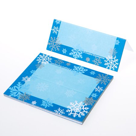 Snowflake Place Cards (Snowflake Place Card Frames)