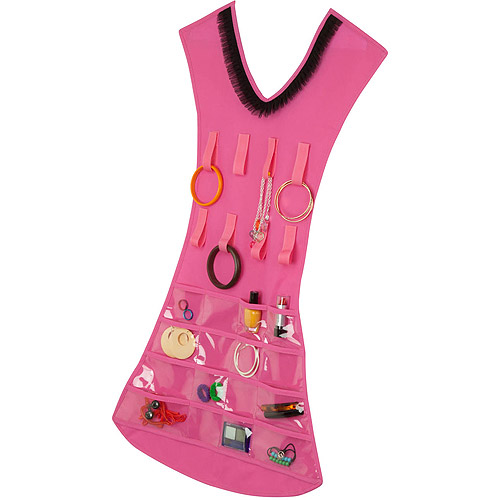 Honey Can Do Hanging Jewelry Organizer in Dress Form Pink Walmartcom