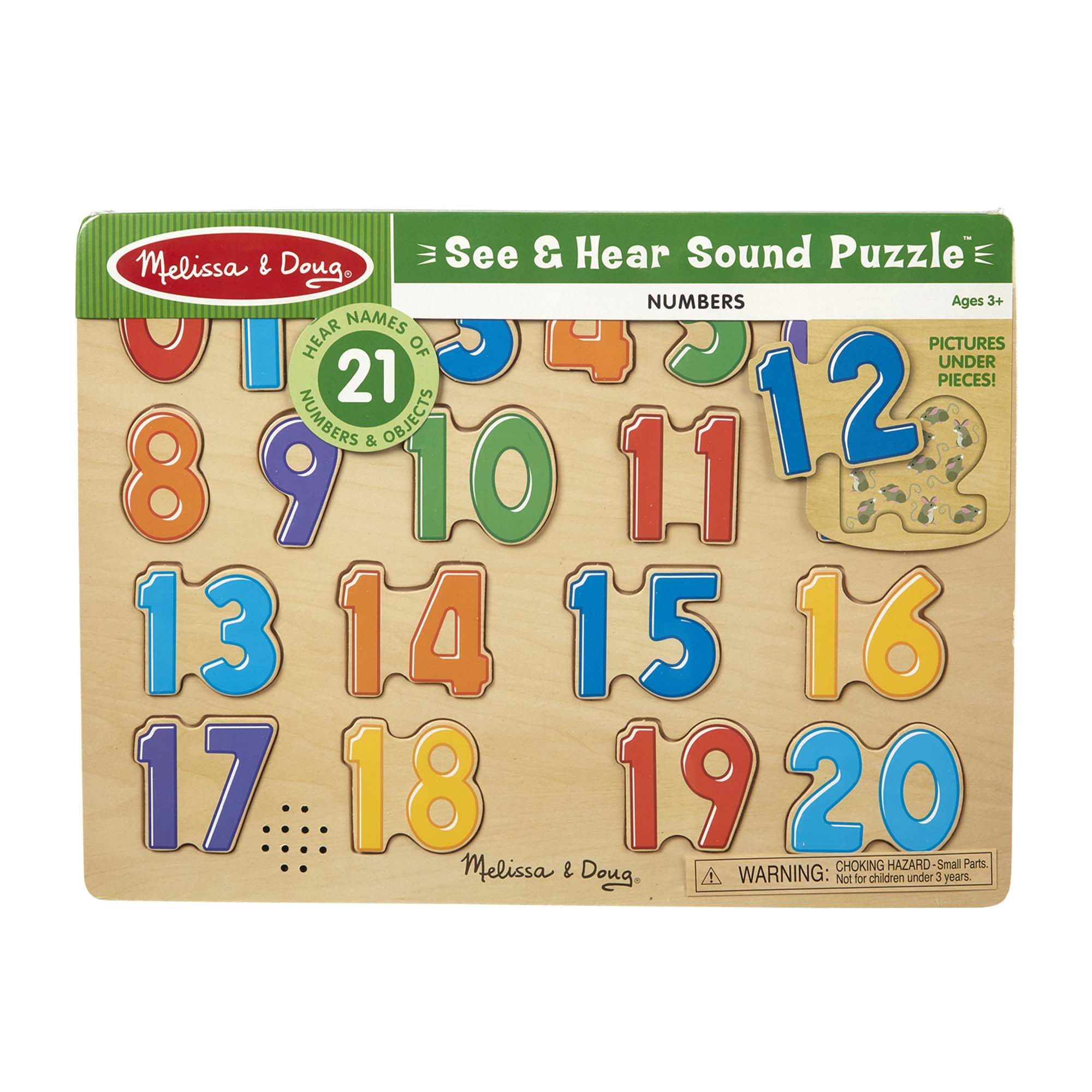 Melissa /& Doug Toys Numbers sound puzzle #339