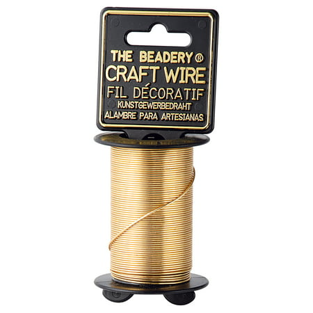 The Beadery, 20 gauge jewelers brass craft wire, 12 yards, gold color