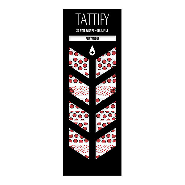 Tattify Polka Dot Nail Wraps - Flirtatious (Set of 22)