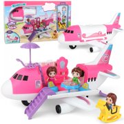 Dollhouse Playset Doll Airplane Playset DIY Pretend with Little Dolls Mini Cottage House Set for 3+ Years Old Boys and Girls