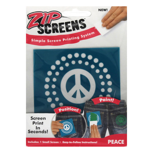 Zip Screen, Small Peace Sign