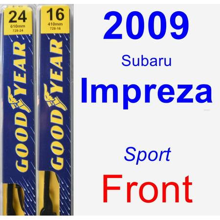 2009 Subaru Impreza (Sport) Wiper Blade Set/Kit (Front) (2 Blades) - Premium
