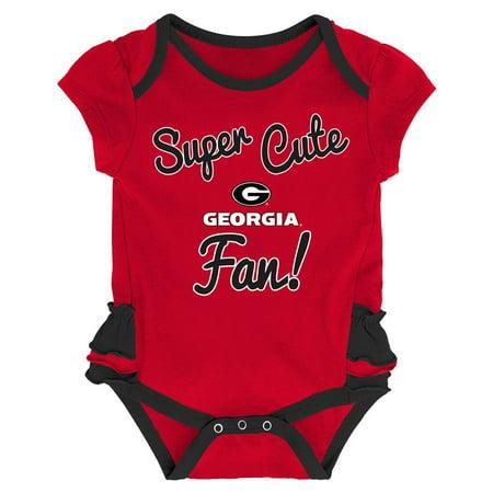 e4428ec28 Georgia Bulldogs UGA Creeper, Bib and Bootie Set Infant Set - Walmart.com