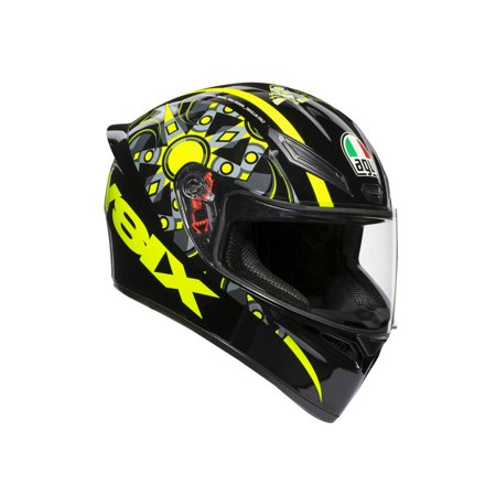 AGV K1 Flavum 46 Motorcycle Helmet Black/Yellow