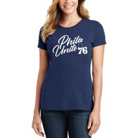 cf0062bdf79f Product Image Philadelphia 76ers Women s 2019 NBA Playoffs Bound Foil  Applique T-Shirt - Navy