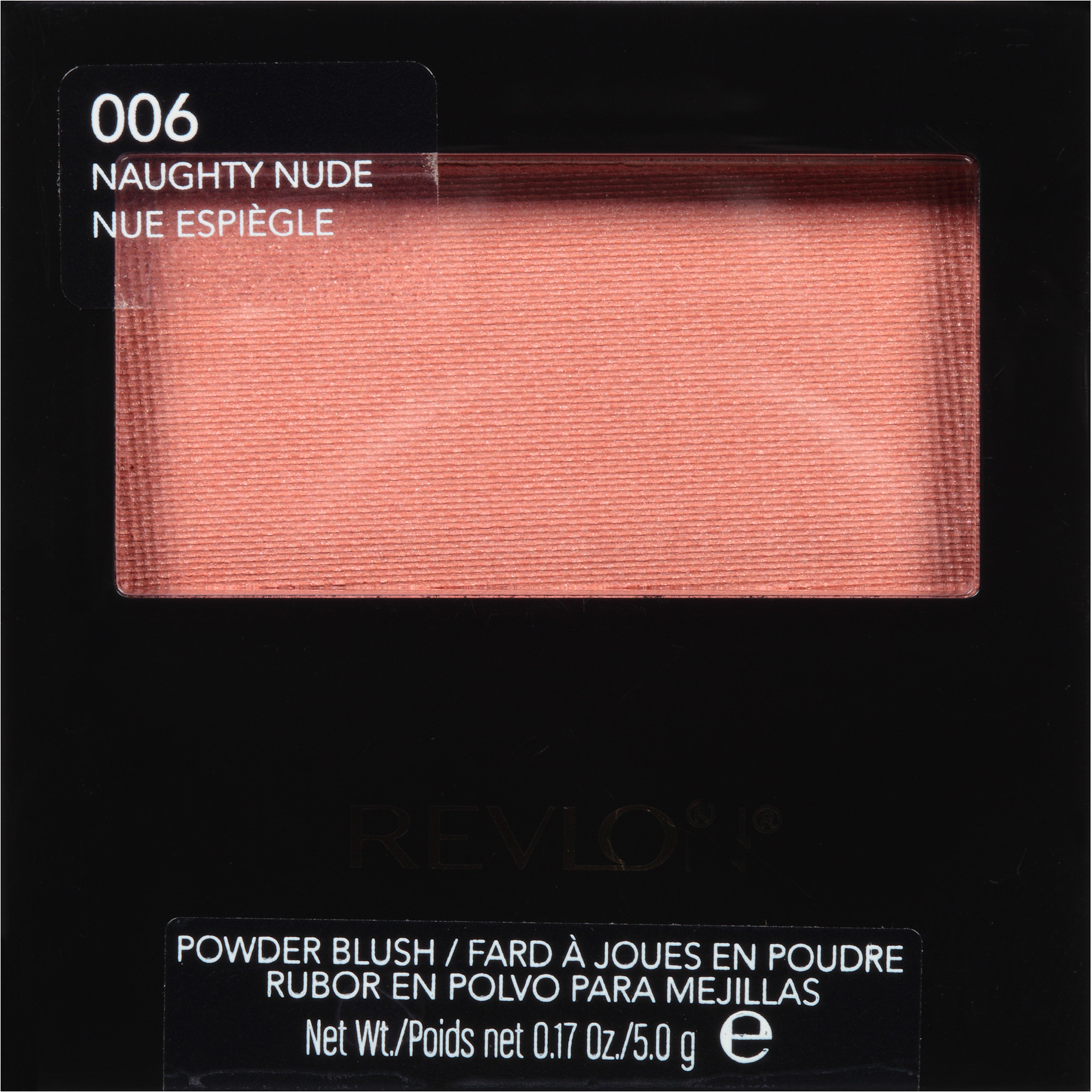 Revlon Powder Blush, 006 Naughty Nude, 0.17 oz