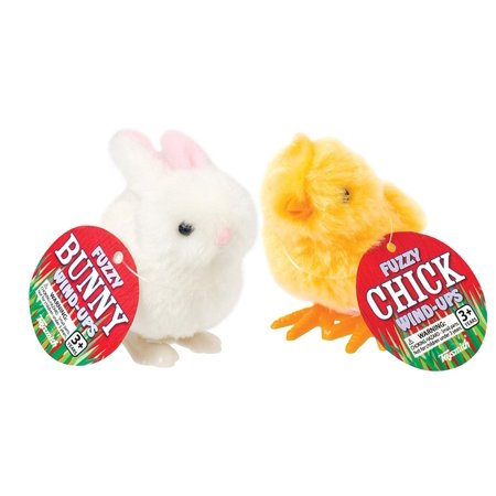 Happy Hopper Fuzzy Chick and Easter Bunny Wind up