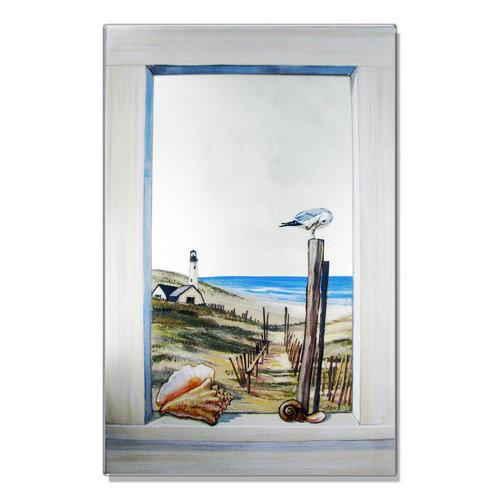 Stupell Industries Seagull Faux Window Mirror