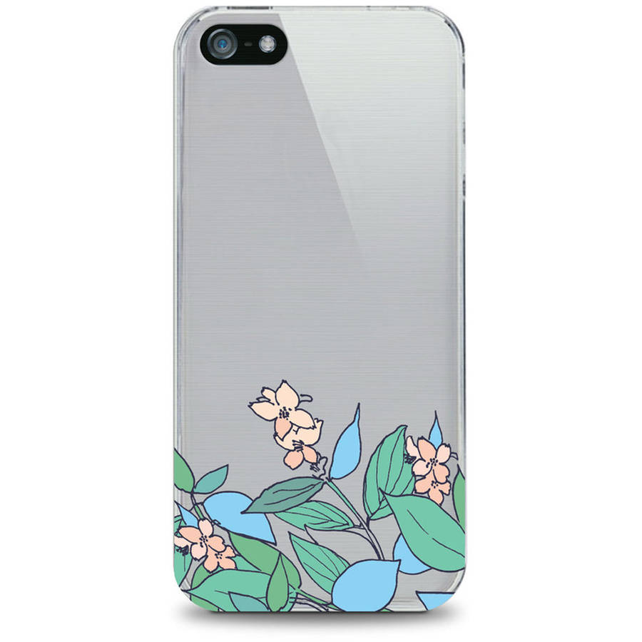 OTM Floral Prints Clear Phone Case for Apple iPhone 6, Pastel Version 2