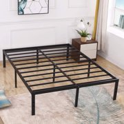 3000lbs Max Weight Capacity TATAGO 16 Inch Tall Heavy Duty Metal Platform Bed Frame Mattress Foundation, Extra-strong Support &Non-Slip, No noise & No Box Spring Need for Saving Money, Queen
