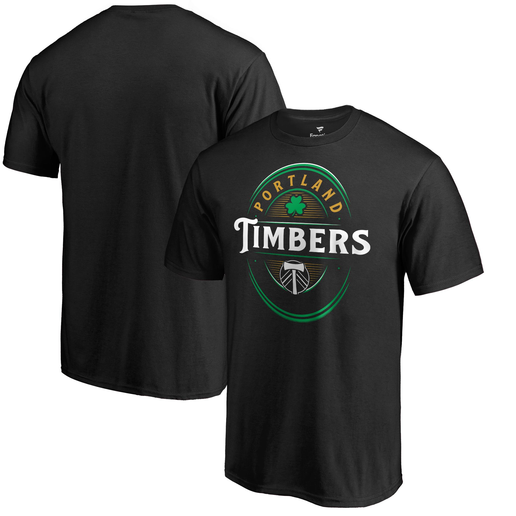 Portland Timbers Fanatics Branded Forever Lucky T-Shirt - Black